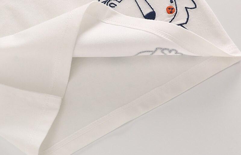 Letnie Dzieciaki Chłopcy T Koszula Korona Druku Krótkim Rękawem - Odzież dla niemowląt - Zdjęcie 5