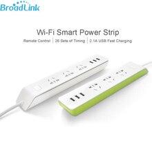 MP2 BroadLink Wifi Smart Power Strip Socket WiFi Enchufe de Control Remoto 3 Salida 3 USB 2.1A Carga Rápida para iOS Android Xiaomi