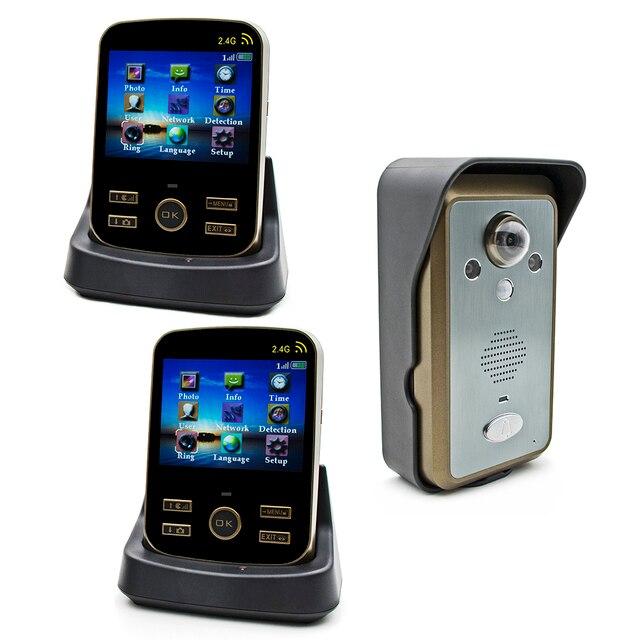 Wireless Door Intercom KDB302 Door Wifi Camera 2.4G Sonnette Wifi Video Door Phone 1v2 Draadloze Deurbel Met Videocamera