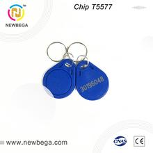 10PCS T5577 Keyfob keychain 125KHz Access control Can read and rewrite Card Tag Key Free shipping цена