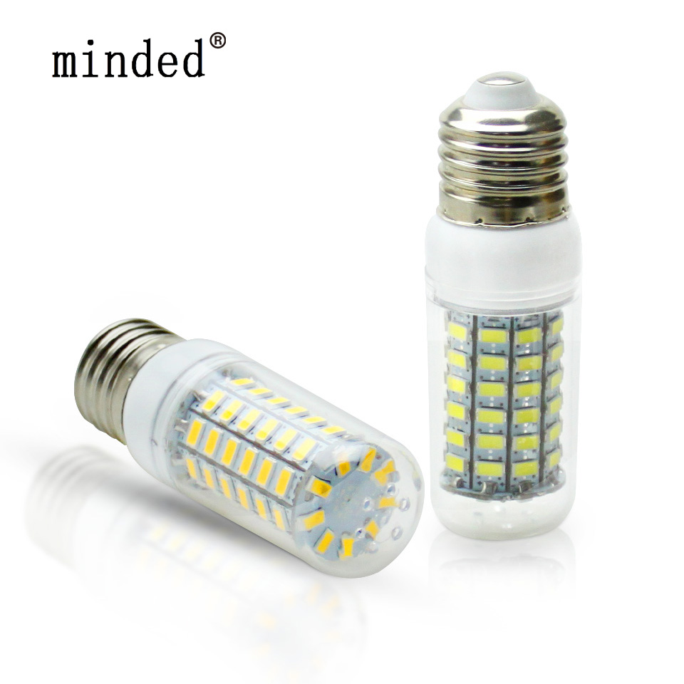 E27 E14 LED Bulb SMD 5730 LED Corn Bulbs 220V 24 36 48 56 69leds lamp LED Bulb Lamp Chandelier LEDs Candle light Spotlight