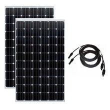 Solar Panel 20v 250w 2Pcs Energy Plates 500w 220v Battery Charger System Cargador Motorhome Caravan Car