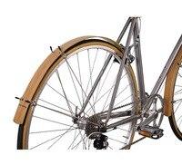 Flat Fender Bamboo Wood Vintage Retro Classic Bike For MTB 20 24 26 700C City Bike Width 45mm front wheel and Rear Wheel
