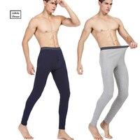 ร้อนฤดูหนาวผู้ชายผ้าฝ้ายกางเกงในแบบยาวกางเกงในความร้อนผู้ชายอบอุ่นยาวจอห์นส์กางเกง