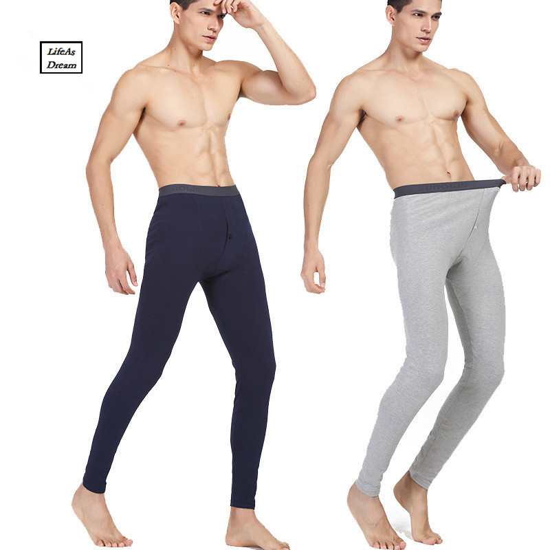Hot Winter Men Long Johns Cotton Thermal Underwear Men Warm Long Johns Leggings Pants High Quality