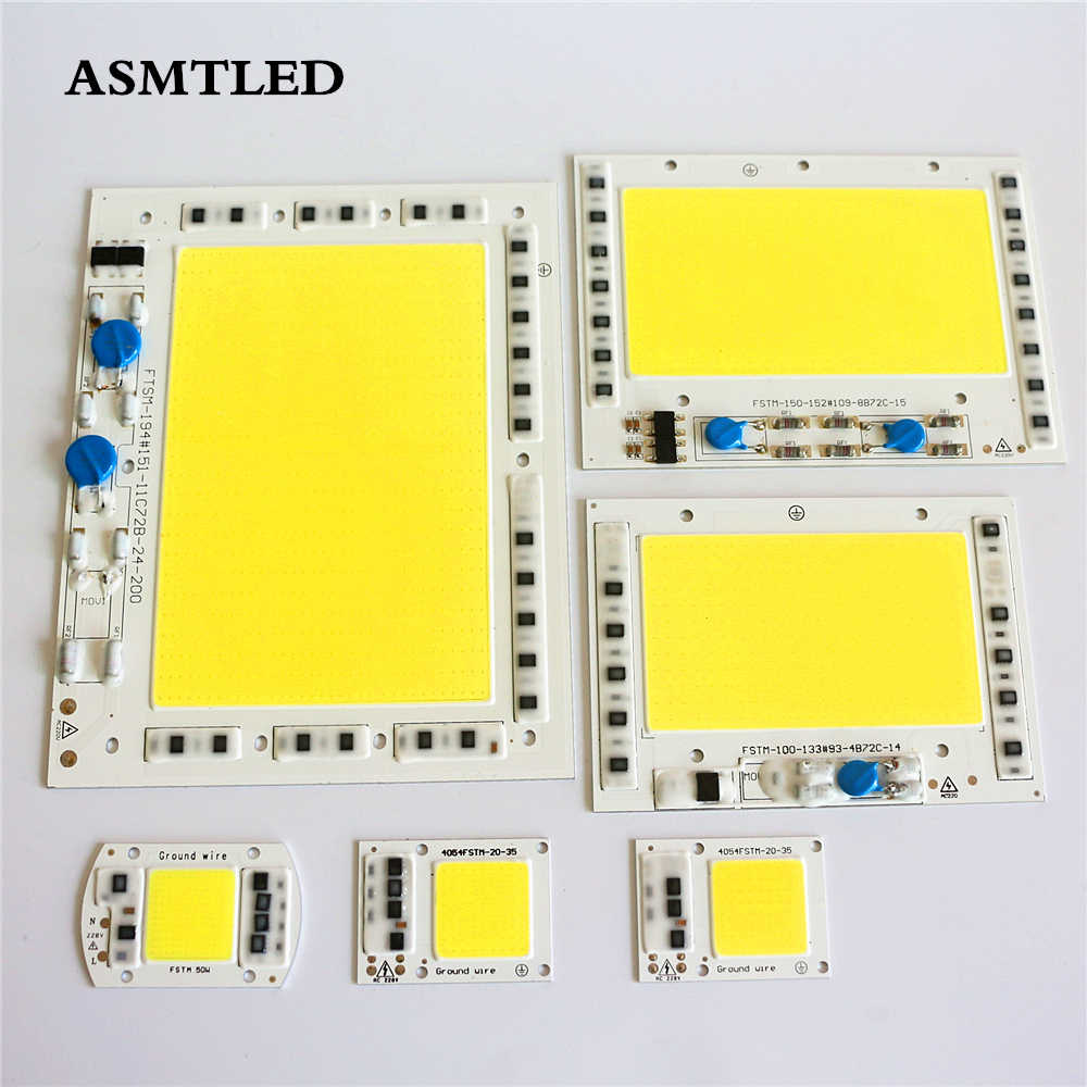 LED COB Chip No Need Driver 200W 150W 100W 50W 30W 20W 220V Input High Lumens Chip For DIY LED Floodlight Spotlight light Chips