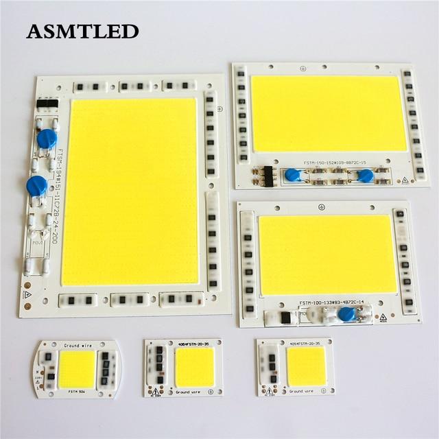 LED צ יפ COB אין צורך נהג 200 W 150 W 100 W 50 W 30 W 20 W 220 V קלט שבבי שבב לומן גבוה לdiy זרקור הארה LED אור
