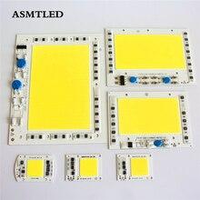Led cob chip não há necessidade de motorista 200w 150w 100 50 30 20w 220v entrada alta lumens chip para diy led projector spotlight luz chips