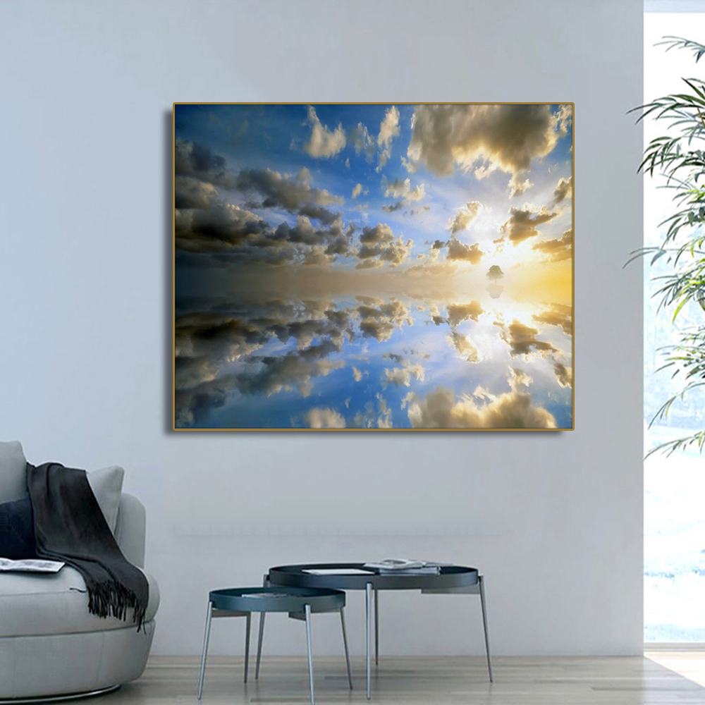 Gorgeous Cloudy Sky Decor Wall Art Poster and Print Canvas Painting Calligraphy Decorative Picture for Living Room Home Decor in Painting Calligraphy from Home Garden