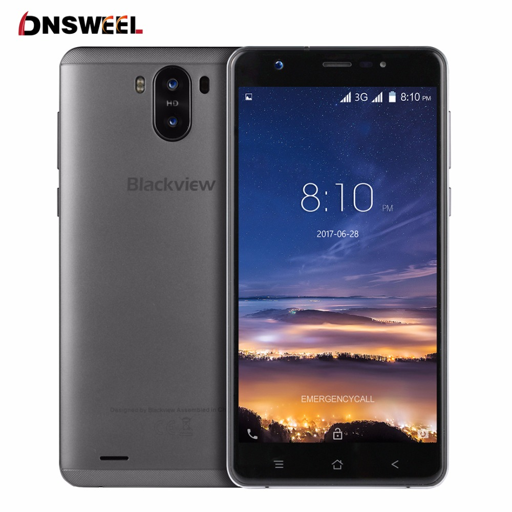 New Blackview R6 lite Smartphone 5.5 inch IPS MTK6580 quad core 3G mobile phone 8MP+2MP Camera 1GB RAM 16GB ROM GPS Cell phone