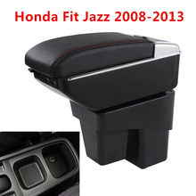Centre Console Storage Box Armrest For Honda Fit Jazz 2008-2014 Arm Rest Rotatable 2009 2010 2011 2012(China)