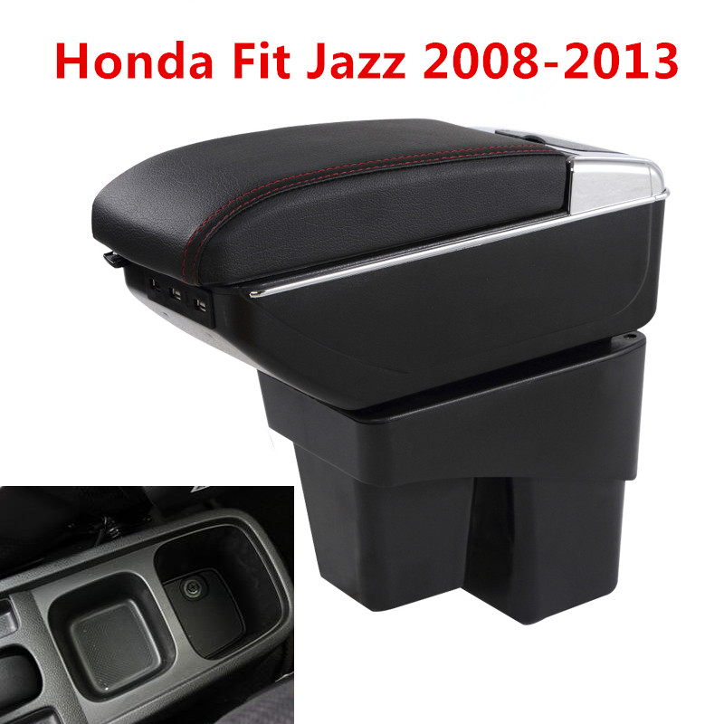 High Quality Black Centre Console Armrest Storage Box Fit for Nissan March 11-14