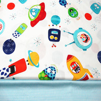 Universe Print Cotton   Fabric   Diy Needlework Quilting Sewing Craft The Cloth Decoration Tissue Baby Home Textile Tela Patchwork
