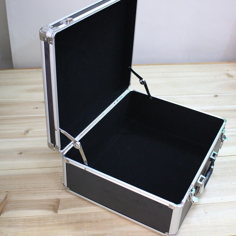 Tactical box aluminium tool case magic props file storage Hard carrying box Hand Gun case Locking Pistol with foam 43*35*17CM