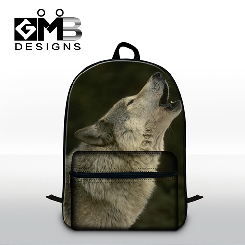 Wolf Pattern School backpacks for boys mens traveling back pack cool bookbags with laptop compartment for teens day back pack