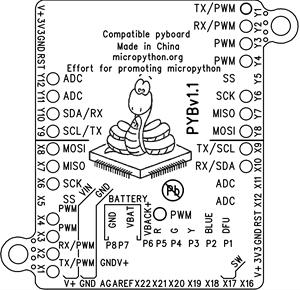 Image 3 - MicroPython geliştirme kurulu PYBoardv1.1 V1.0 STM32F405 Pyhton3 OpenMV