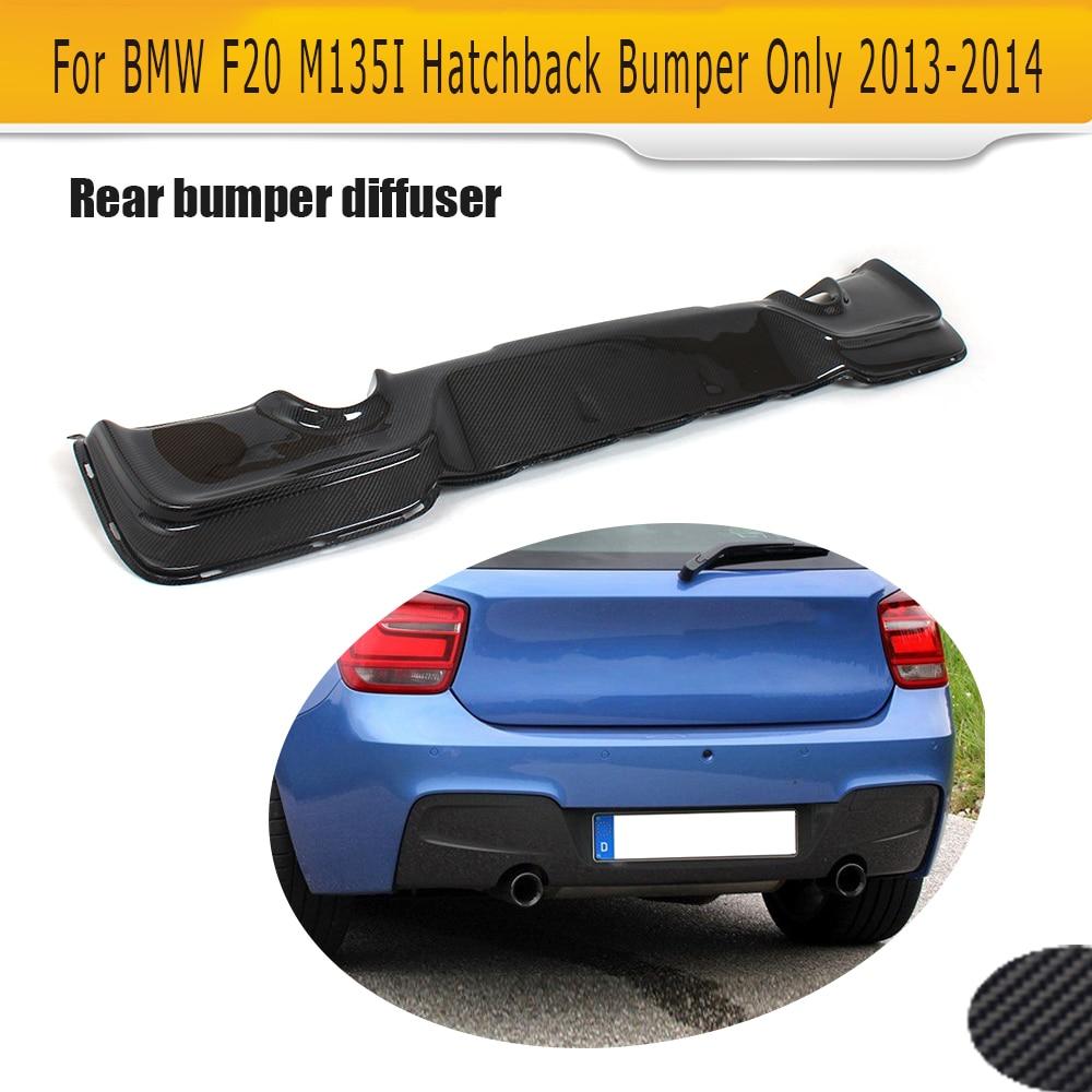 1 Series For F20 carbon fiber rear bumper lip diffuser For BMW F20 M Sport hatchback Only M135i 2012 2013 2014 Black FRP S Style