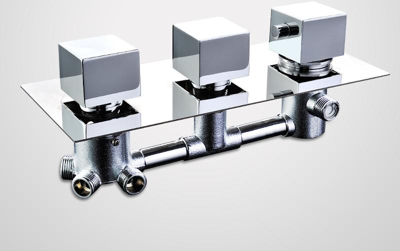 DCAN Bathroom Thermostatic Mixer Valve Brass Chrome Finish Shower Faucet Mixer Valve 3-4 Ways Faucet Bath Faucet Accessories (13)