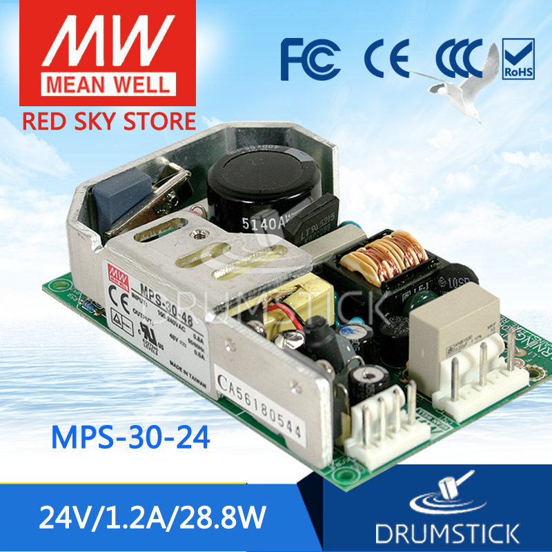 цена на Advantages MEAN WELL original MPS-30-24 24V  meanwell MPS-30 24V 29.7W Single Output for Medical Type