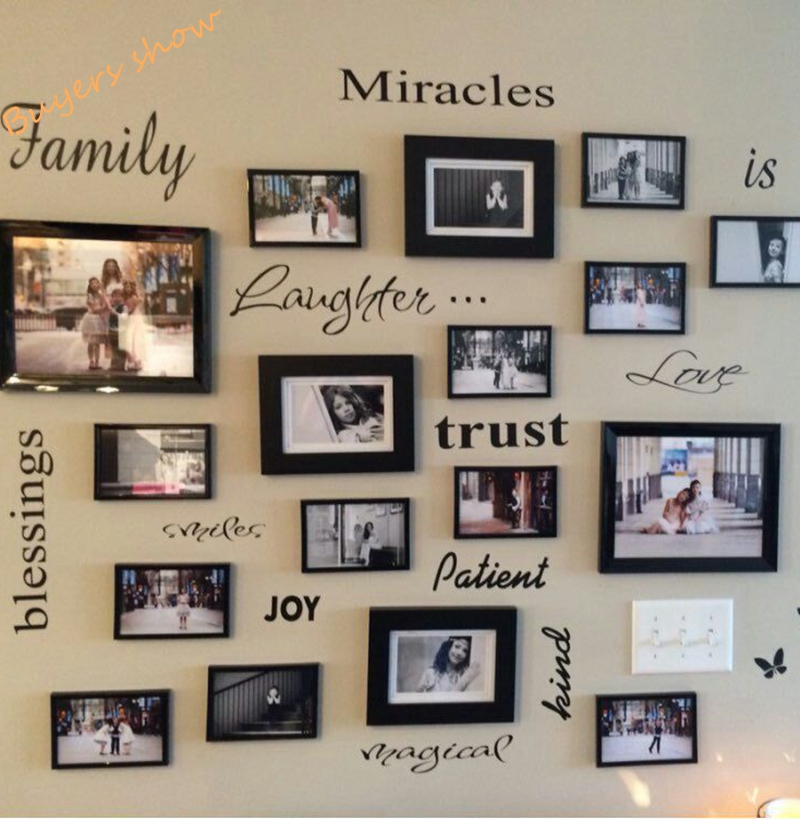 Family Frames Wall Decor sticker winnie picture - more detailed picture about free shipping