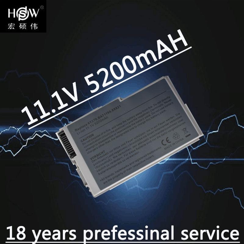 HSW 6Cell Laptop סוללה עבור Dell lnspiron 510 600m Latitude D500 D505 D510 D520 D610 D600 D530 6Y270 U1544 310-5195 C1295 4P894