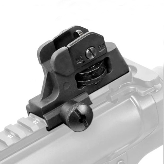 tactical detachable iron rear sight with full windage elevation