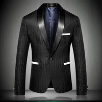 Mens Blazer Jacket 2018 England Designer Nice Striped Style Men Suit Jacket Slim Fit blazer de hombre Party Dress Outfit 9009