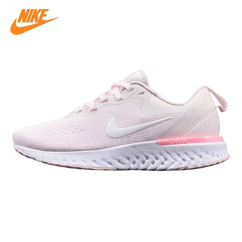 Nike Odyssey реагировать Для женщин кроссовки, розовый, амортизация дышащие износостойкие легкий AO9820 600