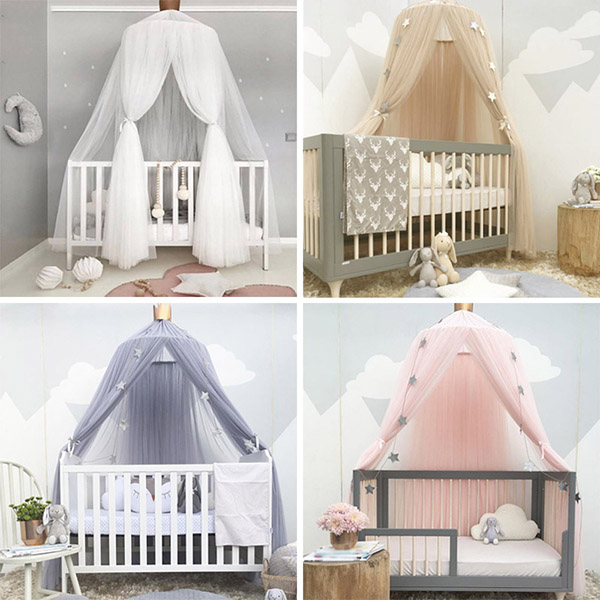 Newly Hot Fashion Cotton Bed Canopy Mosquito Net Round Bed Mosquito Hanging Curtain Hammock Baby Dossel 8 1218Newly Hot Fashion Cotton Bed Canopy Mosquito Net Round Bed Mosquito Hanging Curtain Hammock Baby Dossel 8 1218