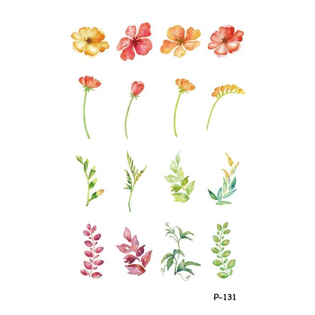 Wyuen Nuevo Diseño Flores De Colores Falso Tatuaje Temporal Mano