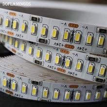 Fita led 5m, 1200leds 24v 3014 smd 12-14lm 240led/m ouro linha fita led branco quente e leve branco natural