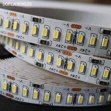5M 1200LEDS 24V 3014 SMD LED şerit 12 14LM 240LED/M altın hattı LED şerit LED bant ışık soğuk beyaz sıcak beyaz doğal beyaz