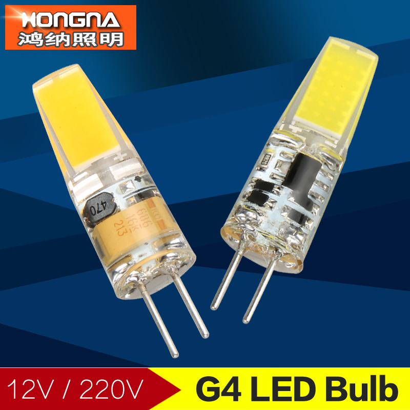 New Arrival LED G4 bulb 12V/220V G4 Lamp Bulb Support Dimmer LED Lighting Lights Replace Halogen Bulb Spotlight Chandelier