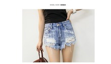 The fine quality blast gap in ladies's   shorts denim rivets sizzling provide