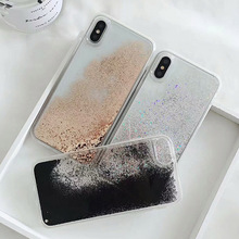 Gold foil glitter quicksand case for iphone XS Max XR X 6 6s 7 8 plus 7plus cases silicone PC Dynamic liquid cover fundas quicksand capinha case for iphone 7 8 6s plus makeup cosmetics dynamic liquid hard back cover for iphone x xr xs max capa ipone