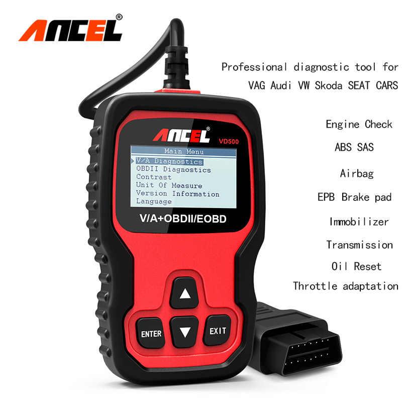 ANCEL VD500 Special OBD2 Scanner Automotive Car Diagnostic Tool A3 A4 ENG  ABS SRS SAS EPB Oil Reset Scan Tool Error Reader
