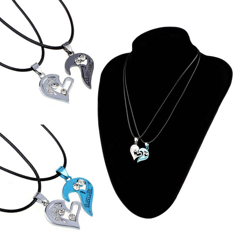 Ожерелье с подвеской Два в одном I Love You ожерелье для влюбленных пар Подарочный