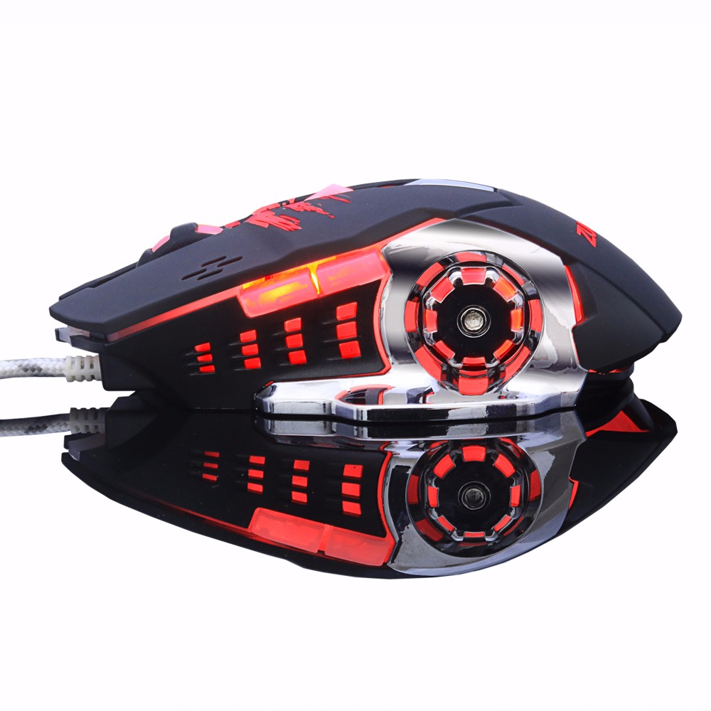 Gaming Mouse Mause DPI Adjustable Komputer Optik LED Permainan Tikus - Periferal komputer - Foto 5