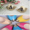 Free shipping (4 PCS/lot) pointed shoes protection shoes worn restoration pointed head hollow metal cover repair parts