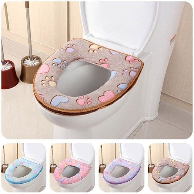2018 Nuovo Bagno Warmer Toilet Seat Panno Morbido Closestool Lavabile Coperchio