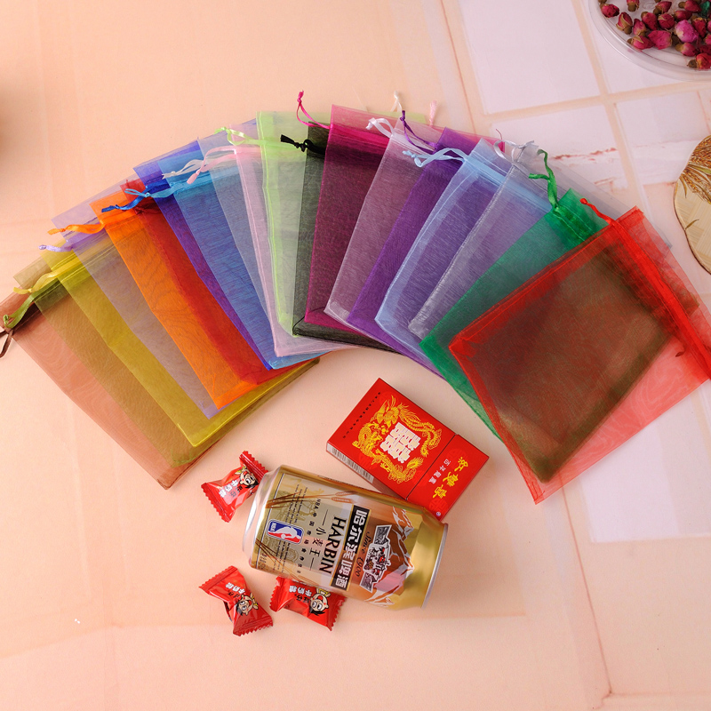 Large Organza Bags 30x40cm 50pcs Drawstring Organza Gift Bags Wedding Candy Favor Pouch For Jewelry Packaging Can Custom Logo