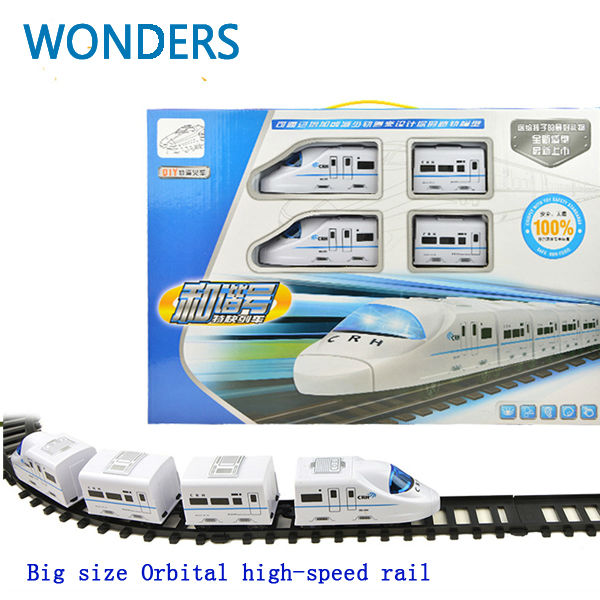 Nice gift! big Model trains electric track train High Speed Rail train railway railroad tracks Orbital toy