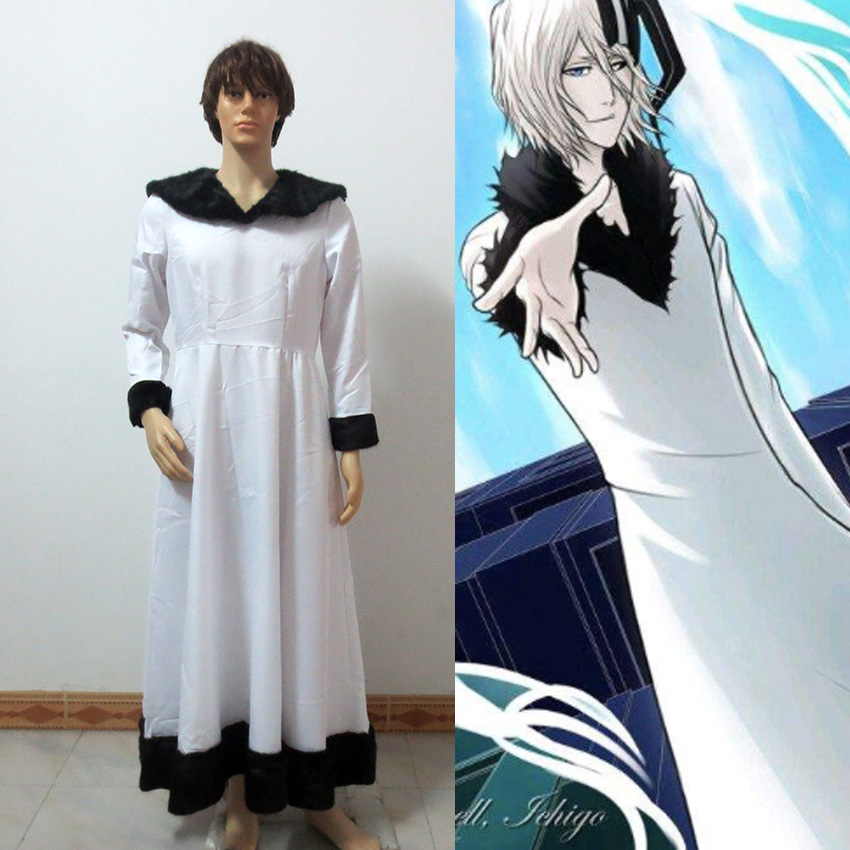 Bleach Hollowfied Tensa Zangetsu Cosplay Costume Custom Made Free Shipping