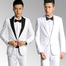 2017 new arrival brand-clothing slim men suit set with pants mens single breasted suits wedding groom formal dress suit + pant
