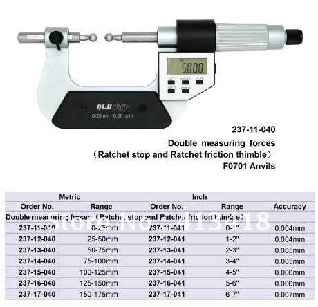 Gear Micrometers 0-25mm.0-1inch.Quality goods.237-11-040.Does not contain the measuring head стиральная машина bomann wa 5716