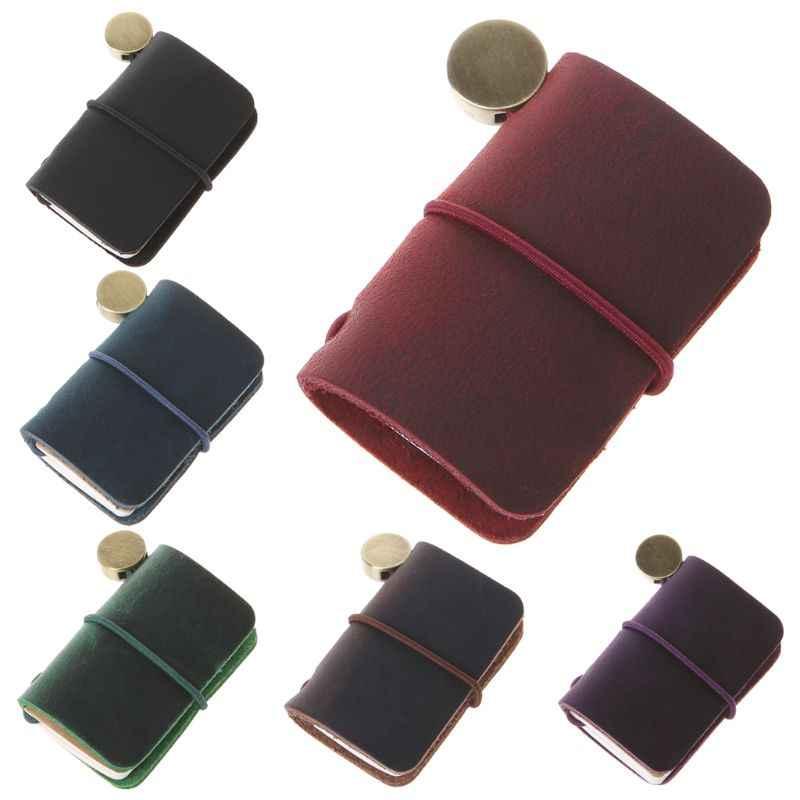 Portable Leather Travel Book Mini Journal Booklet Handmade