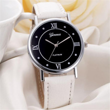 Elegant Women Watches, 2017 Fashion Generous Leather Quartz Men Watch Ladies Dress Casual Wristwatch Clock Relogio Feminino