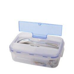 1000ml pudełko na lunch 3 komórki przenośne pojemniki na żywność pudełko bento do kuchenki mikrofalowej z miska na zupę na lunch przyjazne dla środowiska w Pudełka śniadaniowe od Dom i ogród na