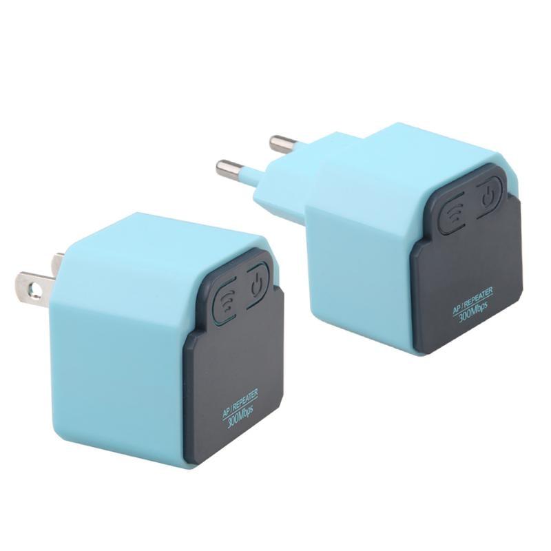 US/EU Plug Portable 300M Wireless WiFi Repeater Socket 2.4G AP Router 802.11N Wi-fi Signal Amplifier Range Extender Booster