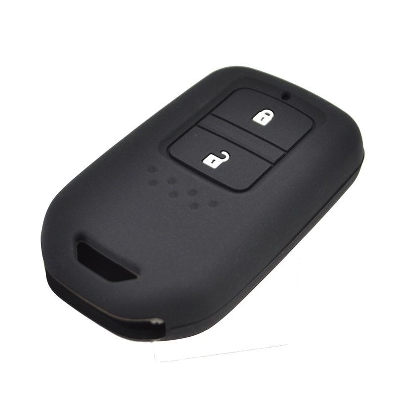 Image 3 - ホンダ HR V Vezel フィットジャズ市シビックアコードシリコーン Remote キーケース Fob Shell  ケースカバースキンホルダー 2 ボタン 2015 2018    グループ上の 自動車